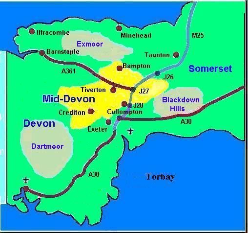Where in Devon is Mid-Devon?